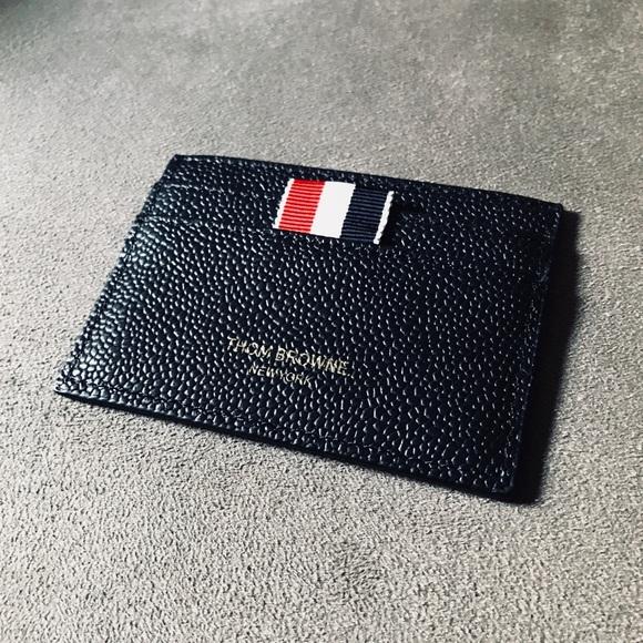 thom browne pebble grain leather cardholder - Thom Browne Card Holder